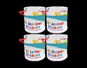 Wholesale Tub of 3D Craft Stickers | Gem Imports Ltd