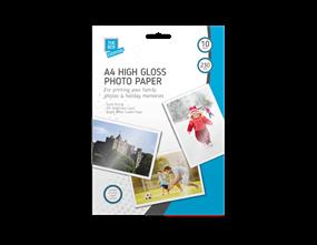 A4 high gloss photo paper 10 sheets