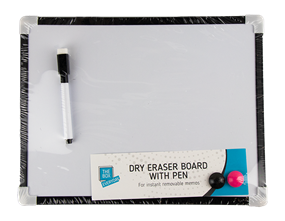White Board And Pen Set - 4 Piece