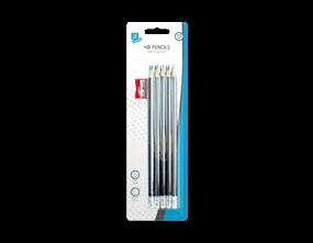 HB Pencils & Sharpener - 10 Pack