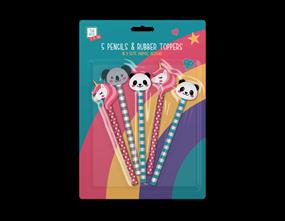 Wholesale Kids Rainbow Pencils & Toppers | Gem Imports Ltd