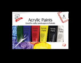 Acrylic Paints 75ml 6pk