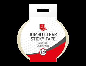 Wholesale Jumbo Clear Sticky Tape120m | Gem Imports Ltd