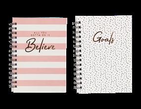 Wholesale A5 Wiro Hardback Foil Notebooks | Gem Imports Ltd