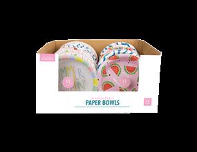 Wholesale Summer Paper Bowls | Gem Imports Ltd