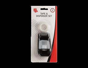 Tape Dispenser & Tape Set - 3 Piece