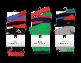 Wholesale Boys Fashion Ankle Socks | Gem Imports Ltd