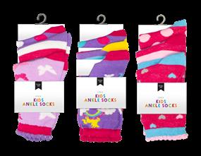 Wholesale Girls Fashion Ankle Socks | Gem Imports Ltd