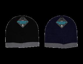 Wholesale Mens Reversible Beanie Hats | Gem Imports Ltd