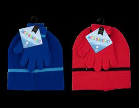 Wholesale Boys Beanie Hat & Gloves Sets | Gem Imports Ltd