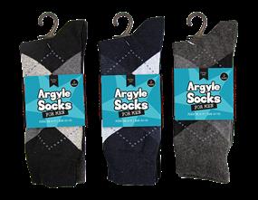 Mens Argyle Socks 2 Pair