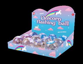 Glittered Unicorn Flashing Ball