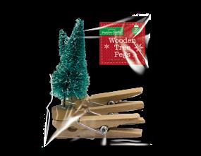 Wholesale Tree Wooden Pegs 3 Pack | Gem Imports Ltd