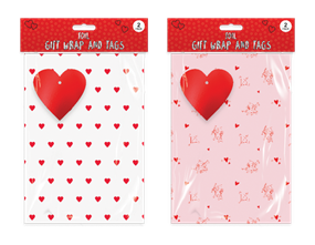 Valentine's Day Foiled Gift Wrap Pack