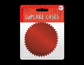 Red Metallic Cupcake Cases 60pk