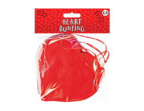 Valentine's Felt Heart Banner 2.5M