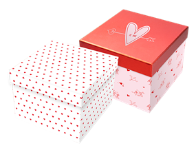 Valentine's Day Square Foiled Gift Box