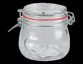 Valentine's Heart Glass Jar 450ML
