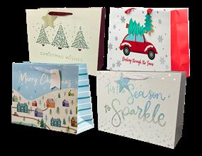 Wholesale Christmas Traditional Luxury Large Gift Bags | Gem Imports Ltd