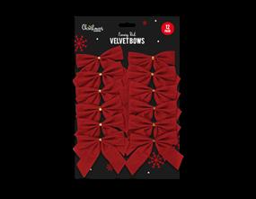 Wholesale Red Velvet Christmas Bows | Gem Imports Ltd