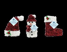 Wholesale Christmas 3D Tinsel Table Decoration | Gem Imports Ltd