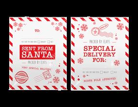 Christmas Printed Santa Sacks - 2 Pack