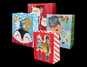 Wholesale Christmas Cute Luxury Medium Gift Bags   Gem Imports Ltd