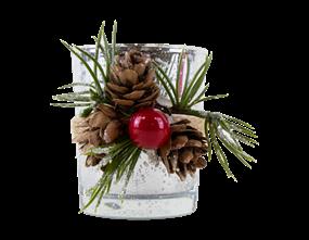 Wholesale Christmas Glass Candle Holders | Gem Imports Ltd
