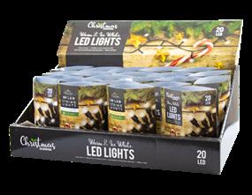 Wholesale White LED Christmas String Lights | Gem Imports Ltd