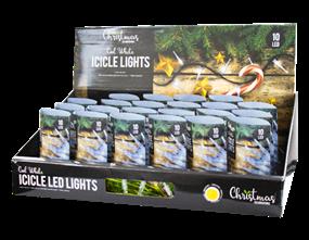 Wholesale White LED Christmas Icicle Lights | Gem Imports Ltd