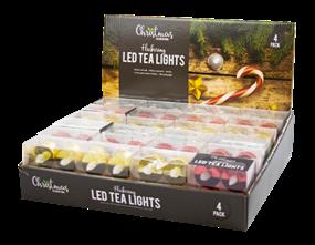 Wholesale LED Metallic Flickering Tealights | Gem Imports Ltd