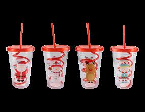 Wholesale Christmas Cup & Twist Straw | Gem Imports Ltd