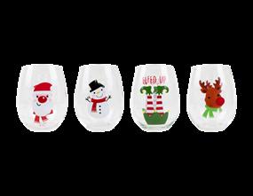 Wholesale Christmas Hand Painted Tumblers | Gem Imports Ltd