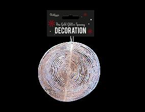 Wholesale Rose Gold Glitter Spinning Decoration | Gem Imports Ltd