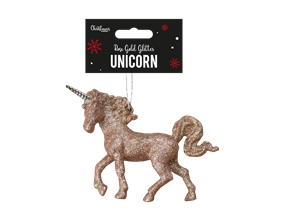 Wholesale Rose Gold Glittered Unicorn Decorations | Gem Imports Ltd