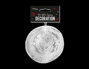 Wholesale Silver Glitter Spinning Decorations | Gem Imports Ltd