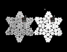 Wholesale Silver & White Glitter Snowflake | Gem Imports Ltd