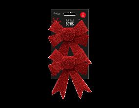 Wholesale Red Tinsel Bows | Gem Imports Ltd
