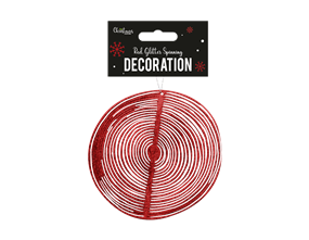Wholesale Red Glitter Spinning Decorations | Gem Imports Ltd