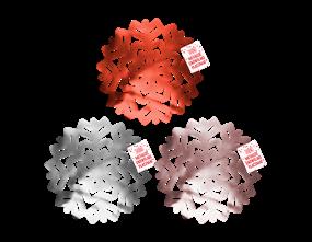 Wholesale Metallic Snowflake Christmas Placemats | Gem Imports Ltd