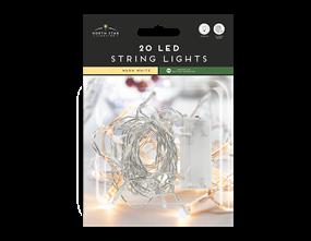 Wholesale Led Battery Operated String Lights Warm White | Gem Imports Ltd