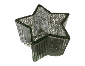 Wholesale Christmas Silver Star Candle Holder | Gem Imports Ltd