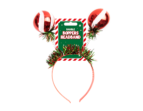 Wholesale Christmas Bauble Bopper Headband | Gem Imports Ltd