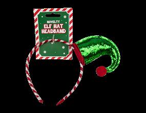 Wholesale Christmas Sequin Elf Hat Headband | Gem Imports Ltd