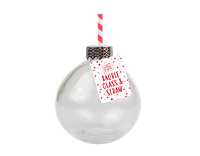 Wholesale Christmas Bauble Glass With Straw | Gem Imports Ltd