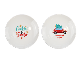 Wholesale Xmas Printed Plate | Gem Imports Ltd