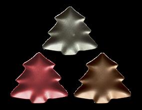Wholesale Glitter Christmas Tree Plate   Gem Imports Ltd