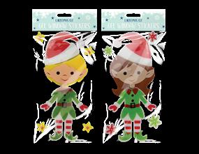 Wholesale Christmas Elf Gel Window Sticker | Gem Imports Ltd