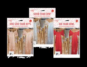 Wholesale Christmas Chair Bows  | Gem Imports Ltd