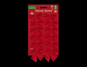 Wholesale Velvet Bows 12 Pack | Gem Imports Ltd